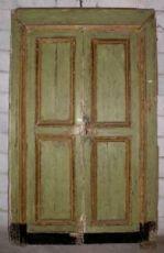 ptl366 lacado puerta con dos puertas con marco, mis. h 228 cm x 133 cm larg.