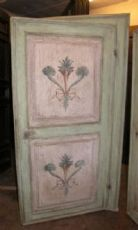 ptl367 par de portas lacadas século XVIII, mis. Quadro cm209 x 120