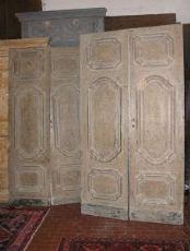 ptl404 dos puertas dobles lacado 'ancho de la vendimia 700, 220 x 122 cm.