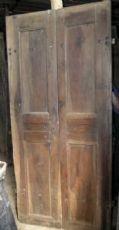 pts332 Cinco puertas dobles en nogal tenue 100/110 x 213 cm finales edad '700
