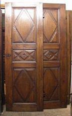 pts505 Paar Nussbaum Türen Lutschtabletten, mis. 75 cm xh 215 cm dick. cm 3