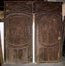 pts514 2 Türen Barock in Original Patina, mis. h 258 cm x Breite. 125 cm