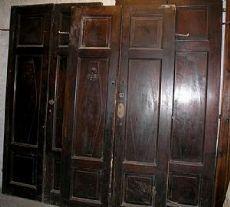 pts515 3 Türen in Nussbaum Rautenmuster, vintage erste 800-Mission. h 240 cm x Breite. 120 cm