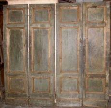 pts568 n. 2 portas duplas lacado, mis. h 204 centímetros x 102 cm de largura.