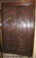portas pts308 em castanha do século XVII, Italy central, mis. 142 xh 225 max