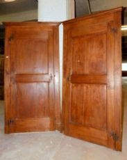 pts618 two doors with frame, poplar, mis. h 214 cm x 106 max