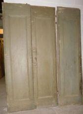 """pts623 cinq portes doubles en peuplier, 700, mis de ros. h 247 cm x 125 avec le rebord arrière,"""""""