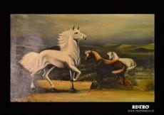 Dipinto con cavalli
