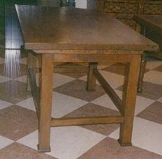 Mesa rústica umbro-toscano piernas de madera de roble piramidal casos durmientes, perfecto estado