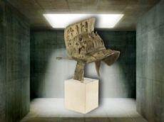 Elmo di gladiatore in bronzo dei primi anni del '900
