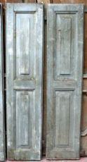 Nr. 2 scuri antichi laccati. Epoca 1800.