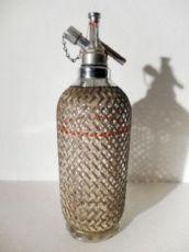 Bottiglia da seltz in vetro, rivestita in metallo Art. 4091