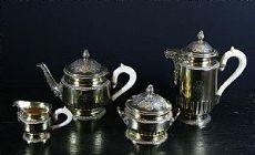 Service à thé en argent et vermeil - Lapar 1878-1897