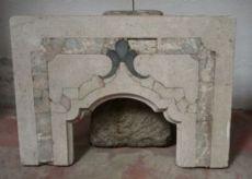 "Fragment de tabernacle en marbre antique. Epoca 1700."""