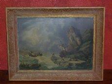 Tempesta -  dipinto ad olio- primi'800-