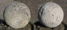 """Пара антикварных шаров каменных ворот. Epoca 1800."""""""