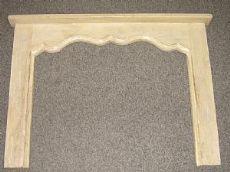 Chimenea de madera lacada