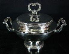 Zuppiera in argento con coperchio - J. F. Veyrat 1819-1838