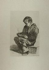 Infante mangeant ce diner - F.Bonvin 1861