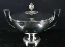 Zuppiera in argento con coperchio - M. A. Le Brun 1819-1838