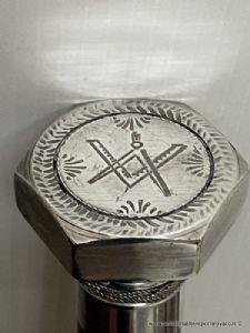 Antico centrotavola polilobato in argento
