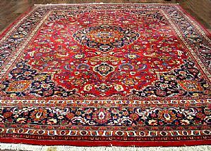GREAT Meshad Persian Khorasan A FLORAL DECORATIONS - 310 X 390 cm.
