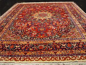 GREAT, RARE AND ANTIQUE FLORAL DECORATIONS A MESCHAD-Horasan 440x315cm.