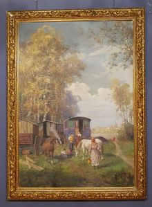 """Great Painting by Leonardo Roda """"Nomads"""" Torino, First of the '900"""