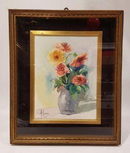"Watercolor by Antonello Zecca ""Flowers"""""