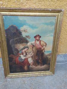 dipinto primi ottocento sud Italia