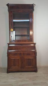 elegante trumeau antico vetrinetta in mogano metà 1800 Sec XIX PREZZO AFFARE