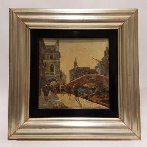 """Painted by Filiberto Vitaliano Rossi """"Canal Vena, Chioggia"""" Venice"""""""