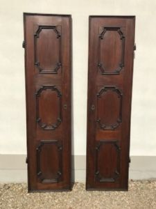 Pair of single doors""