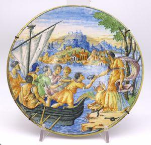 """Ceramic Plate Castles, 19th century."""""""