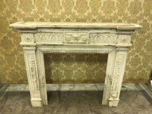 Marble fireplace 150x30x124h""