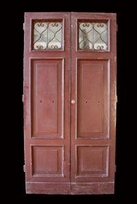 "Antique glass door lacquered. Epoca 1800."""