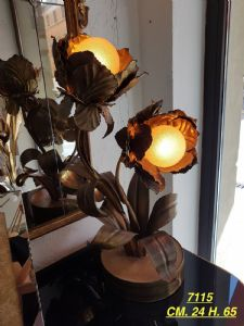 "BRASS TABLE LAMP JANSEN"""