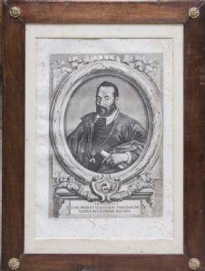 Groupe se compose de 9 gravures représentant les grands-ducs de Toscane