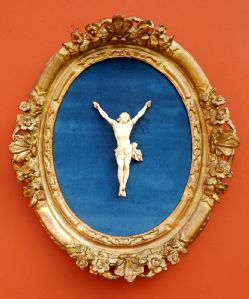 Ivory Christ, framed