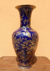 vaso in porcellana  blu cobalto Bavaria Germania
