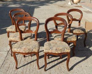 "group of six chairs Luigi Filippo"""