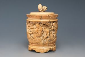 ivory box with Children