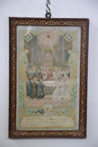 """STAMPA """"RICORDO DELLA PRIMA   COMUNIONE"""" ANNO 1915 RIF. 3648"""