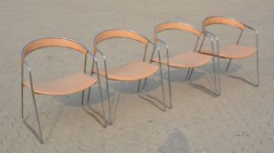 """LOT 4 YEARS CHAIRS '70 / '80 REF. 4197"""""""