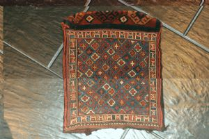 "波斯Saddlebag,古董ca. 36 x 30厘米"""