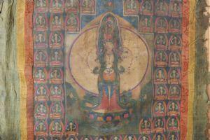 "Splendido antico Thangka, East-Tibet, XVIII secolo, elemento raro assoluto! Seta incorniciata"""