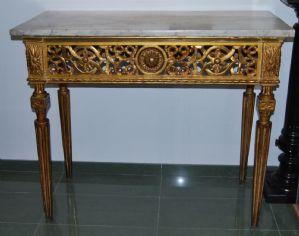 Console dorata del XVIII secolo