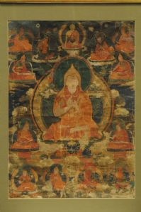 THANGKA, TIBET, Antique, 19th C.,Original, Good condition! With or without frame