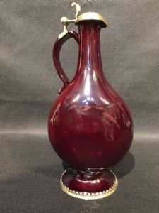 "Ruby glass jug"""