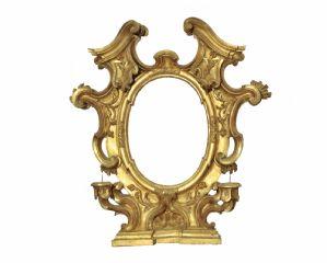 Cornice dorata a foglia d ' oro Emilia Sec XVII-XVIII